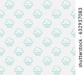 seamless pattern of clouds | Shutterstock .eps vector #632937083
