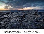 black scenery of lava fields | Shutterstock . vector #632937263