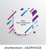 vector background with paper... | Shutterstock .eps vector #632944103