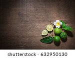 lime paste lime pair on the old ... | Shutterstock . vector #632950130