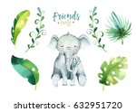 baby animals nursery isolated... | Shutterstock . vector #632951720