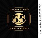 55 years anniversary design... | Shutterstock .eps vector #632955053