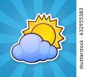 vector illustration. sun... | Shutterstock .eps vector #632955383