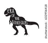 tyrannosaurus rex silhouette... | Shutterstock .eps vector #632956418
