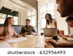 team of business professionals... | Shutterstock . vector #632956493