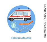 medical emergency ambulance... | Shutterstock .eps vector #632958794