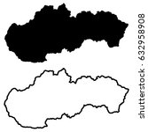 slovakia map vector... | Shutterstock .eps vector #632958908