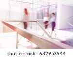 blurred motion of businesswomen ... | Shutterstock . vector #632958944