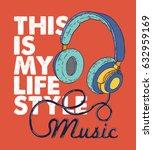 music concept vector design... | Shutterstock .eps vector #632959169