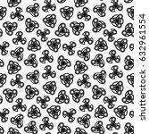 hand spinners seamless pattern. ... | Shutterstock .eps vector #632961554