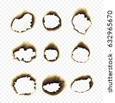 scorched holes in the paper.... | Shutterstock .eps vector #632965670
