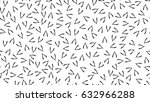 wishbone random seamless... | Shutterstock .eps vector #632966288