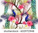 beautiful vector seamless... | Shutterstock .eps vector #632972948