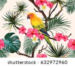 beautiful seamless vector... | Shutterstock .eps vector #632972960