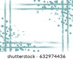 drawn background with frame ... | Shutterstock . vector #632974436