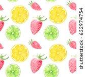watercolor seamless pattern...   Shutterstock . vector #632974754