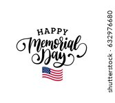 Stock vector vector happy memorial day card national american holiday illustration with usa flag festive 632976680