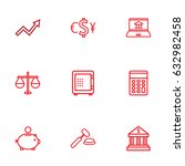 set of 9 sponsor outline icons...