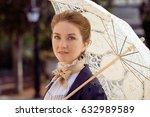 Romantic Young Beautiful Lady...