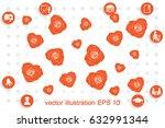 rose vector illustration eps10 | Shutterstock .eps vector #632991344