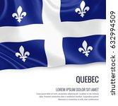 Canadian State Quebec Flag...
