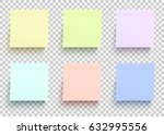 colored paper stickers set.... | Shutterstock .eps vector #632995556