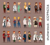 man and woman workers for many... | Shutterstock .eps vector #632996216
