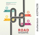 highway infographics or road... | Shutterstock .eps vector #632996258