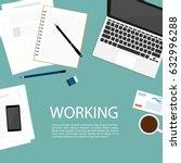 business working space top...   Shutterstock .eps vector #632996288