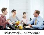 lovely family moments at... | Shutterstock . vector #632999000