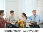 close knit family of four...   Shutterstock . vector #632999009