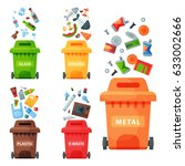 recycling garbage elements... | Shutterstock .eps vector #633002666