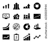 graph icons set. set of 16... | Shutterstock .eps vector #633003944