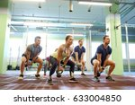 sport  fitness  weightlifting... | Shutterstock . vector #633004850
