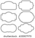 vector set vintage labels and... | Shutterstock .eps vector #633007970