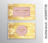 vector golden business card... | Shutterstock .eps vector #633009758
