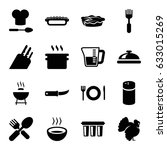 cooking icons set. set of 16... | Shutterstock .eps vector #633015269