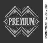 vintage badge. logo template.... | Shutterstock .eps vector #633017600