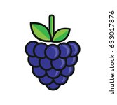 cartoon blackberry | Shutterstock .eps vector #633017876