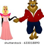 beauty and the beast | Shutterstock .eps vector #633018890