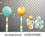 bunch of balloons isolated....   Shutterstock .eps vector #633019580