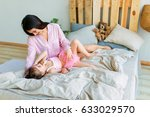 happy loving family. mother and ... | Shutterstock . vector #633029570