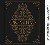 antique label  vintage frame... | Shutterstock . vector #633030944