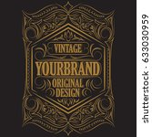 antique label  vintage frame... | Shutterstock . vector #633030959