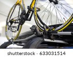 detail of the bicycle on the... | Shutterstock . vector #633031514