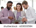 business  technology  break and ... | Shutterstock . vector #633033584