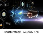 business  people and technology ... | Shutterstock . vector #633037778