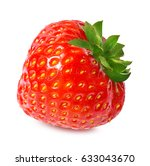 strawberry on white background | Shutterstock . vector #633043670