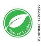 natural product green vector... | Shutterstock .eps vector #633044990