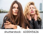 outdoors fashion portrait of... | Shutterstock . vector #633045626
